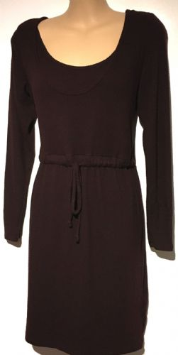 H&M MAMA BURGUNDY KNITTED NURSING JUMPER DRESS SIZE S 10